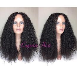 Canada Jolie 100% non transformée vierge remy vierge de cheveux humains longue couleur afro bouclée pleine dentelle perruque pour les femmes cheap pretty wigs for women Offre