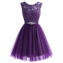 2020 bonitos vestidos baratos homecoming 2018 New Style Cute Mini Beaded Lace Short Homecoming Dress Tulle Homecoming Gowns Cheap Graduation Dresses desconto bonitos vestidos baratos homecoming