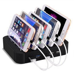 Wholesale Detachable Plugs - 5 Multi Ports Universal Detachable USB Charging Station Stand Holder Desktop Charger for Mobile Phone Tablet EU US Plug