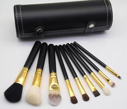 Wholesale high quality makeup brushes wholesale - brand M Makeup Brush 9 pieces sets Professional Makeup Brush set Kit + Free makeup bag Gift High quality