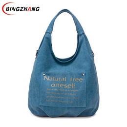 Wholesale dark brown hobo handbags - High Quality Canvas Women Bag Handbag Casual Large Capacity Hobos Female Totes Bolsas Vintage Solid Woman Shoulder Bag L4-3122