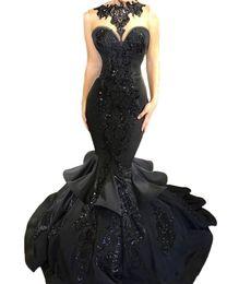 2018 Vendita calda Custom Made Prom Dresses sexy da donna in rilievo Abiti da sera Mermaid Abiti occasioni speciali da