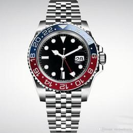 Wholesale Armbanduhr Basel rote blaue Edelstahl Uhr der automatischen Herrenuhr der neuen Männer freies Verschiffen