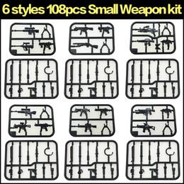 Blocs de construction accessoires de jouets compatibles mini figurines armes d'assemblage 108pcs ? partir de fabricateur