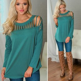 4672950485f loose sleeve shirt outfit NZ - Women Fashion Tops Casual Loose Long Sleeve  O-Neck