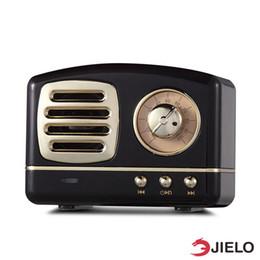 Canada Enceintes BT01 Enceinte Bluetooth Rétro Hifi Stéréo Bluetooth V4.1Portable Haut-parleur Vintage Sans Fil Construit Dans Le Micro Et Aux Carte Mémoire Aux Support cheap speaker supports memory card Offre