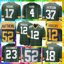 719681a55dd cheap 12 Aaron Rodgers Green Bays Packers Jersey 17 Davante Adams 80 Jimmy  Graham 23 Jaire Alexander 52 Clay Matthews 4 Brett Favre Nelson