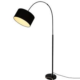 2019 lâmpadas de chão para piano Design de moda Modern Pano Lâmpada de Assoalho Para Sala de estar Quarto Cabeceira de Pesca Lambader Preto Branco levou lâmpada de pé de chão