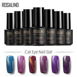 Gel di chiodo nero per gel online-Rosalind Gel 30 colori Vernice gel magnetica 7ML Black Bottle 3D Cat Eyes Magnet LED UV Soak-off Gel semipermanente semi permanente
