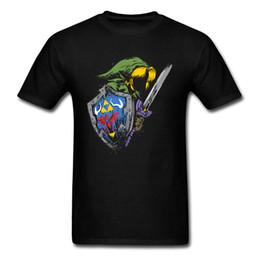 Hyrule Guerreiro T-shirt Dos Homens Zelda Tops Legend Of Zelda Roupas Legal Mens Preto T Shirt Verão Tshirt Cotton Game Tees de