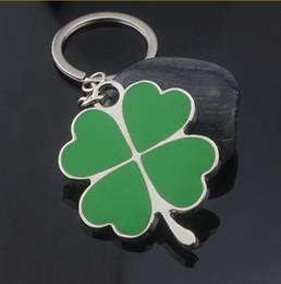 chave remota yaris Desconto 20 pcs Coréia Trevo Keychains Criativo Verde Trevo Chaveiro Amantes de Metal Pingente de Chave Pequeno Presente