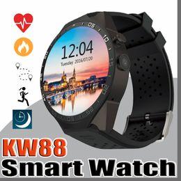 2019 недорогой слот телефон KW88 smart watch Android 5.1 OS MTK6580 CPU 1.39-дюймовый экран 2.0 MP камера 3G WIFI GPS Heart Rate smartwatch для iphone Android smart phone