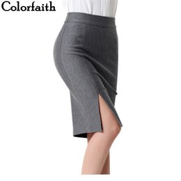 Wholesale Ladies Yellow Mini Skirts - 2017 New Women Formal Work Wear Skirts Ladies Sexy High Waist Mini Pencil Skirt 7 Colors Stretch Package Hip SP5602