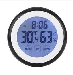 Sıcak Plastik Dijital Sıcaklık Nem Süresi Fonksiyonu Duvar Saati Kapalı Hava İstasyonu Ölçer Cihazı LCD Arka Saatler supplier digital testers nereden dijital test cihazları tedarikçiler