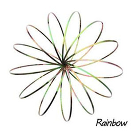 Wholesale Big Novelty Ring - 7 colors FLOW RING - Newest 11inches Toroflux Anti-Stress Gadgets Novelty Toys Holographic by While Flow Bracelets Kinetic Spring