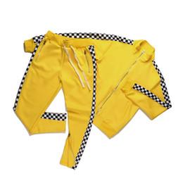 Wholesale Brown Herringbone Suit - 2018 FASHION zipper pants hip hop Fear Of God suits medusa printed shark hoodies sweatshirt slim fit tracksuits for men jacket sweatshirts