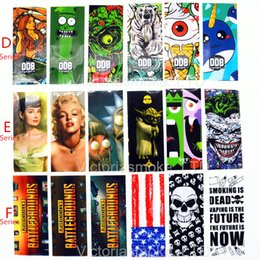 Wholesale vape skin - Hot Game of Thrones Wonder Woman Spartacus Lich King Orcish 18650 Battery PVC Skin Sticker Vaper Wrapper Cover Sleeve Wrap Heat for Vape.