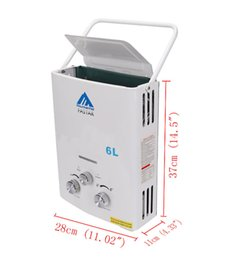 Wholesale outdoors heaters - Ship from Germany! 6L Portable Outdoor Shower LPG Propane Gas Tankless Instant Hot Water Heater Boiler + Shower Head