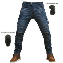 2018 novo volero MOTORPOOL jes-6 calças de brim dos homens da motocicleta calças de brim calças de proteção equipamentos de moto calças de corrida calças de