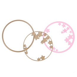 Wholesale Cheap Paper Decorations - Cheap die 2pcs Circle Circle Stars Cutting Dies for Scrapbooking Photo Album Decoration DIY Stencils Embossing Paper Cards