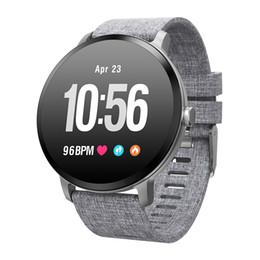 Смарт-часы V11 IP67 водонепроницаемый закаленное стекло Activity Fitness tracker Монитор сердечного ритма BRIM Мужчины женщины smartwatch от