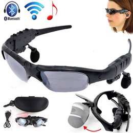 sonnenbrille kopfhörer kopfhörer Rabatt Sonnenbrille-Bluetooth-Kopfhörer-drahtloser Sport-Kopfhörer-Sonnenbrille-Stereo-Freisprechkopfhörer mp3-Musik-Spieler DHL-FREIES EAR311