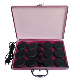 Массажер онлайн-Горячо! каменный комплект massager тела с CE коробки 20pcs/set подогревателя 220V и ROHS
