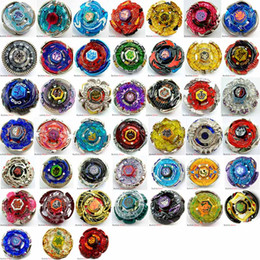 Wholesale top gifts for christmas kids - 45 MODELS Beyblade Metal Fusion 4D With Launcher Beyblade Spinning Top Set Kids Game Toys Christmas Gift For Children Box Pack HH7-1053