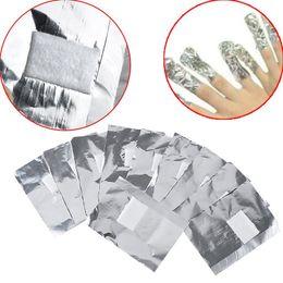Wholesale nail foils wraps - 100Pcs Lot Aluminium Foil Nail Art Soak Off Acrylic Gel Polish Nail Removal Wraps Remover Makeup Tool Nail Carel Wholesale 3001220