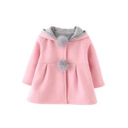Canada Hiver Printemps Bébé Filles À Manches Longues Manteau Veste De Lapin Oreille À Capuche Casual Vêtements De Plein Air Offre
