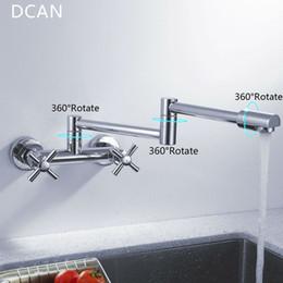 Küchen Mischbatterie Rabatt DCAN Kitchen Sink Armaturen Finish Folding  Küchenarmaturen Wandhalterung Dual Griff Chrome Mixer