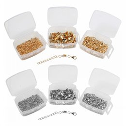 Wholesale Charms Lobster Ring - 3 Box Silver Gold Lobster Clasps Open Jump Rings Extension Chains Clips For Jewelry Making Charms Sewing And Craft D820L