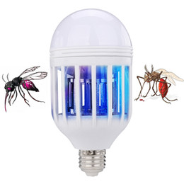 Wholesale fly room - Edison2011 Electric Trap Light Indoor 2 Modes 15W E27 LED Mosquito Killer Lamp Bulb Electronic Anti Insect Bug Wasp Pest Fly Greenhouse