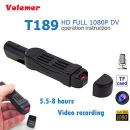 Wholesale Full Hd Pocket Camcorder - Original Volemer T189 Mini DV Camera HD 1080P 720P Pocket Pen Micro Camera Video Voice Recorder Camcorder Camara Digital DVR Cam