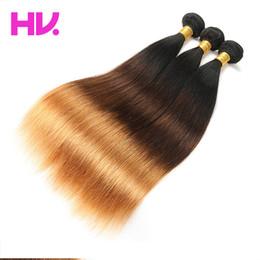 2019 ombre cabelo dye weave Cabelo reto brasileiro Ombre Cor tece 1b / 4/30 remy extensões de cabelo sem derramamento nenhum emaranhado pode ser tingido cabelo virgem desconto ombre cabelo dye weave