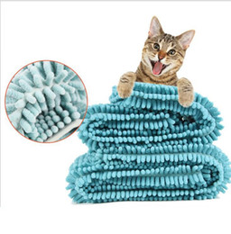 Wholesale Microfiber Super Absorbent Towel - 35*60cm Super absorbent Pet Microfiber Dog Towel Drying Towels Fashion Pet Bath Towels Hypoallergenic Chemical Free Cleaning Cloth KKA4521