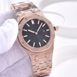 2019 relojes de damas hermosas Bellas damas Reloj Royal relojes de cuarzo 33MM acero inoxidable octagonal Negro esfera de un reloj al aire libre P6307 de oro rosa pulsera para mujer relojes de damas hermosas baratos