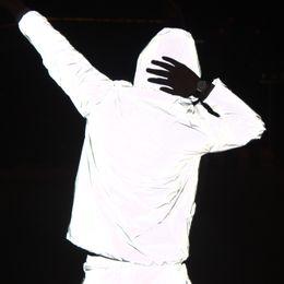 Wholesale Night Clothes Men - Regular Zipper Jackets And Coats Brand Clothing For Reflective Jacket Coat Hiphop Windbreaker Veste Homme Night Safety