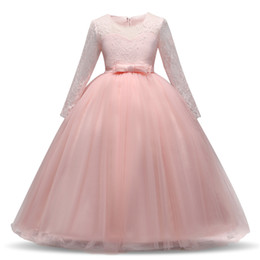 1d2eb63b1ab Party Events Children Clothing Tutu Fluffy Prom Gown Flower Baby Girl  Princess Dress Kids Long Sleeve Winter Dresses for Girl