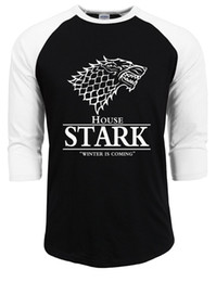 Wholesale Ice Fire T Shirt - bodybuilding juego de tronos T Shirts for Men Shirt an Ice Song and The Winter Is Coming To Fire Man T-shirt 2017 summer autumn