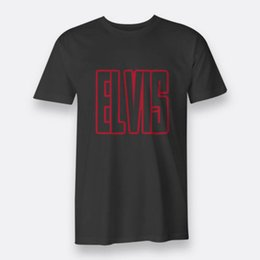 5a2dc63acc7e Elvis King of Rock and Roll Black Men s Tees Size S-3XL T-Shirt