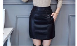 2019 Primavera Mujeres Falda de Cuero Genuino Moda Cómoda Faldas de piel de Oveja de Alta Calidad de Cintura Alta Paquete Delgado Falda de la cadera desde fabricantes