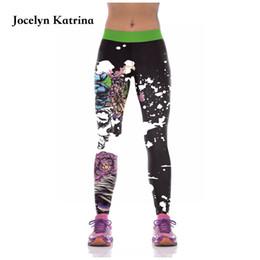 Pantalones de camuflaje de yoga online-Jocelyn Katrina Fitness Leggings Mujeres Workout Gym Print Pantalones de Yoga Stripe Camuflaje Deportes Leggings Fitness Stretch Trouser