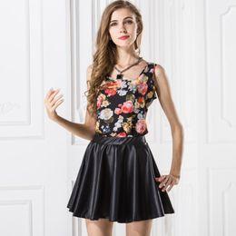 Wholesale women basic chiffon blouse - Newest Arrival Summer Tank Tops Women Chiffon Print Blouse Woman Brand Top Basic Female Sleeveless Shirts Sexy Girl