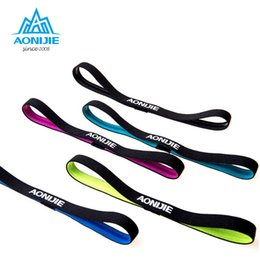 Wholesale Headbands Sports Solid Color - Wholesale-Solid Color Sports Hair Band Anti-slip Elastic Sweatband Fitness Yoga Gym Running Cycling Headband E4073