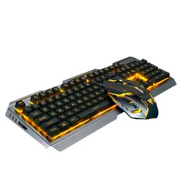 Wholesale Gaming Set - Wired Rainbow Backlit Illuminated USB Gaming Keyboard and Optical Gaming Mouse Sets
