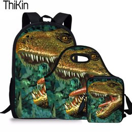 c31b32565297 cool backpacks boys Canada - THIKIN 3Pcs Set Children School Bags for Kids  Dinosaur Printing Schoolbag
