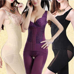 Wholesale Full Black Body Suit - Sexy Women Seamless Full Body Shaper Waist Corset Underbust Girdle Cincher Control Belly Lift Firm Tummy Suit Underwear