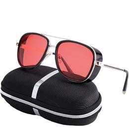 26a55e626ea KRMDING Fashion Steampunk Goggles Sunglasses Iron Man Women Brand Designer  Sunglasses Men Women Punk UV400 Retro