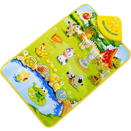 Wholesale Toys Play Gym - Hot Selling Kids Baby Farm Animal Musical Music Touch Play Singing Gym Carpet Mat Toy Gift Nov 7 Dropship